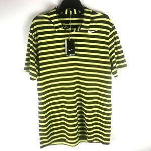 Nike Golf Dri Fit Men Size L Electro Yellow Black